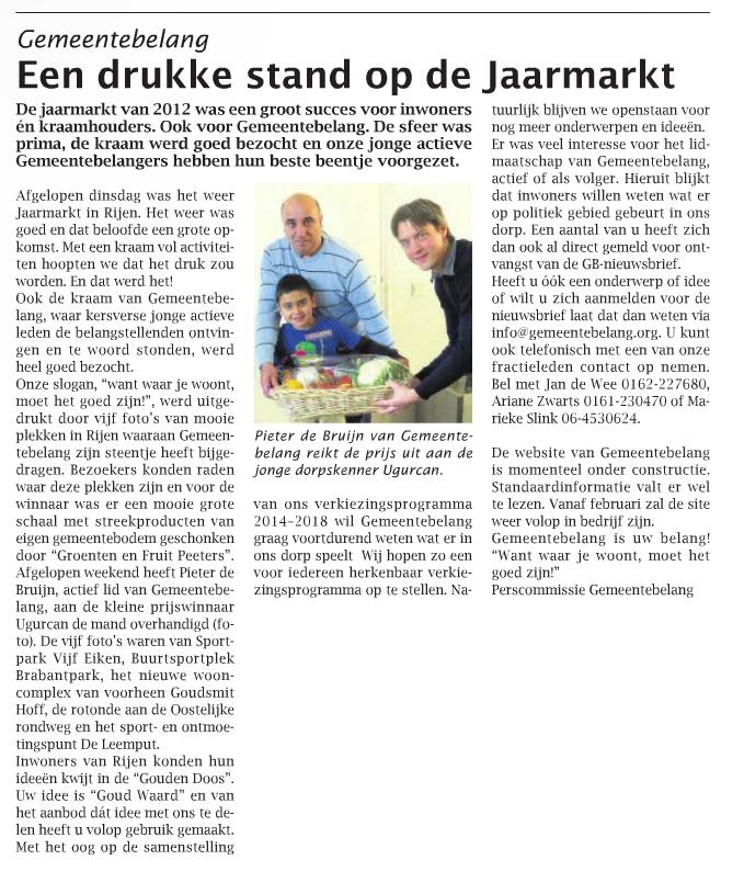 Het artikel uit het weekblad van 31 oktober 2012