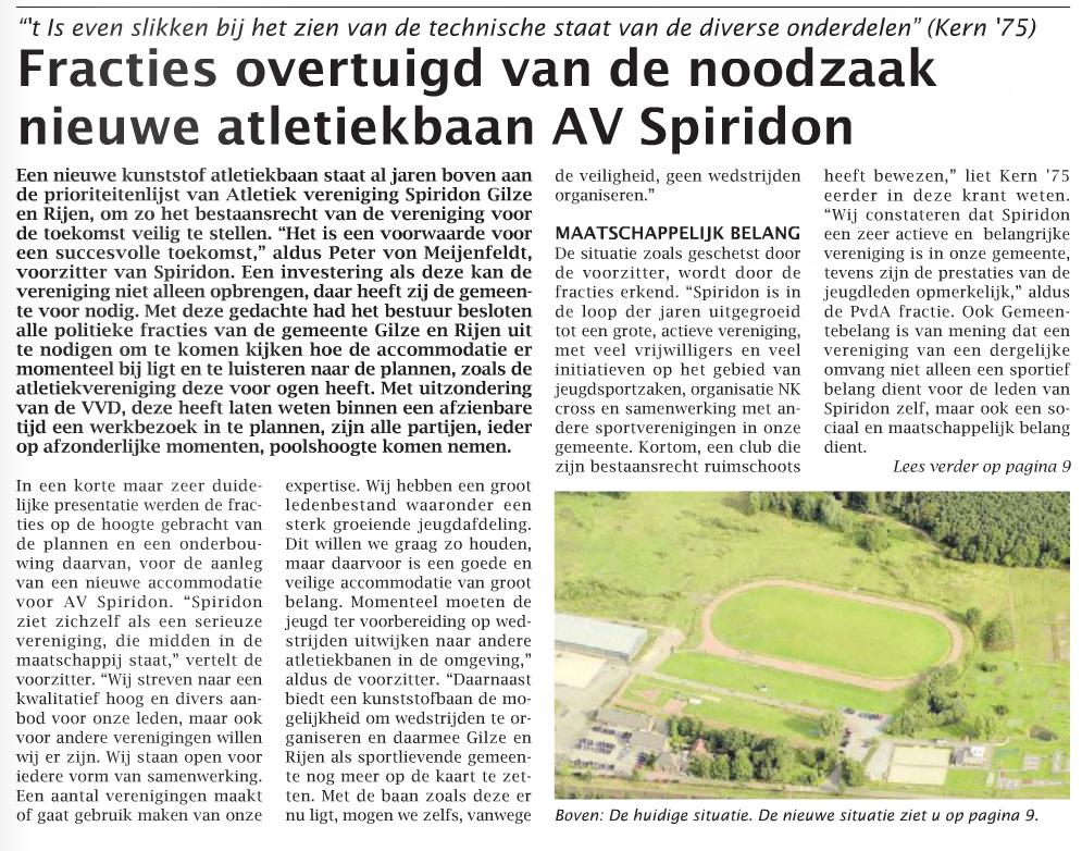 Spiridon voorpagina weekblad week 8 2013